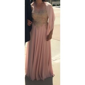 Long Blush Party Dress 💗